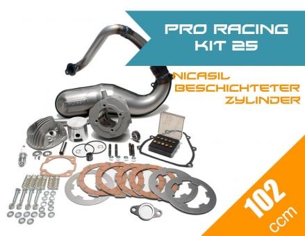Pro Racing Kit 25 (PINASCO Nicasil 102ccm + MALOSSI Auspuff + Zubehör Komplettset)