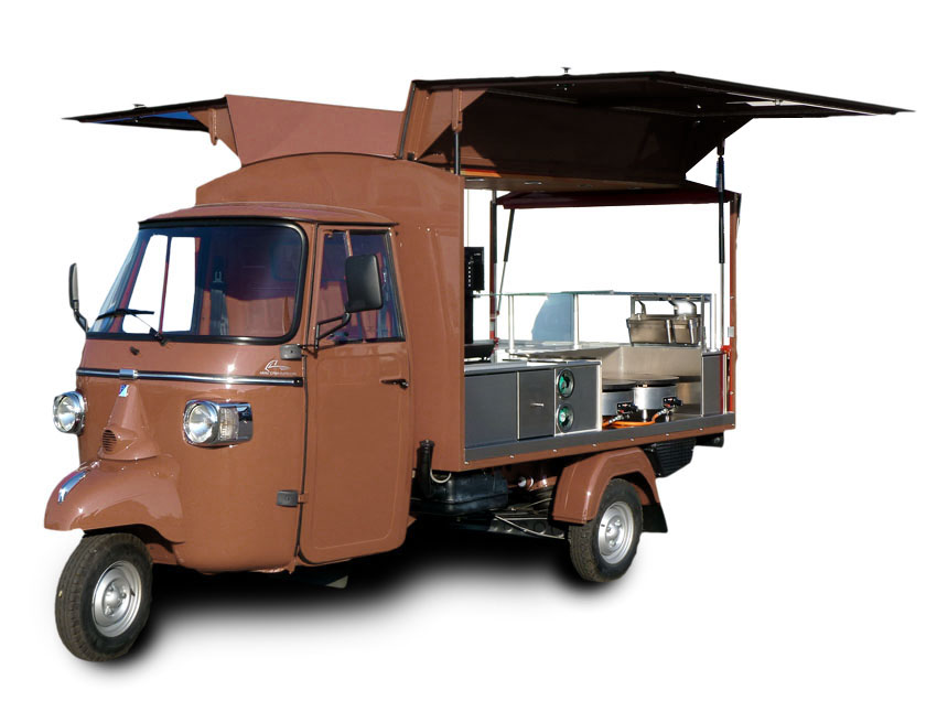 casa moto piaggio dreir der und mehr piaggio ape classic creperie crepes and coffee. Black Bedroom Furniture Sets. Home Design Ideas